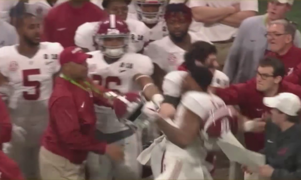 Fight Broke Out On Alabama Sideline During Title Game