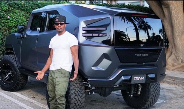 Jamie Foxx Shows off His New Tactical Urban Vehicle (TANK)
