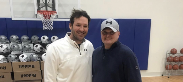 Tony Romo Hungover Signing Cowboys Helmets Is A Must Look