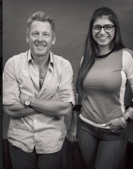 Lance Armstrong Welcomes Former Porn Star Mia Khalifa
