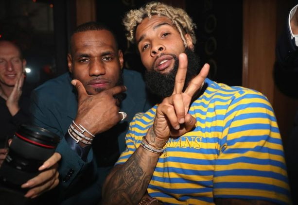 LeBron and Odell Beckahm Jr. Cozied up for a Pic