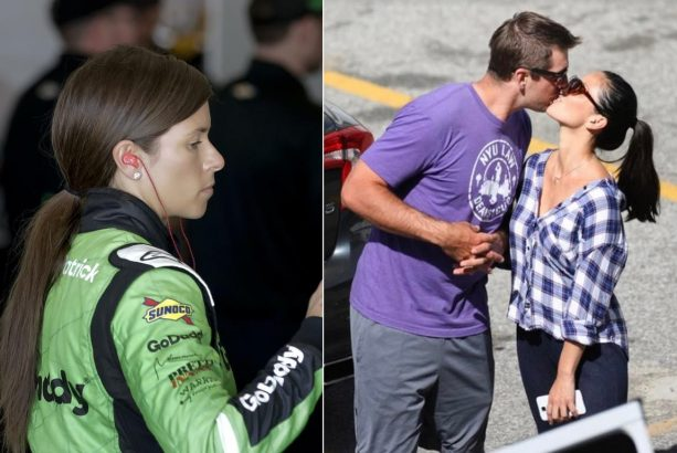 Aaron Rodgers and Danica Patrick's First Staged Kiss all Set