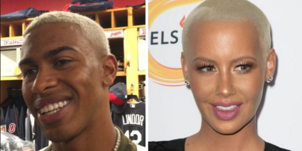 Francisco Lindor Gets ROASTED by Indians Teammates for Rockin Amber Rose's Hairstyle