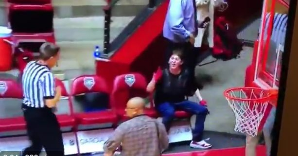 Young Enraged New Mexico Fan Goes Hard at Refs and Coaches