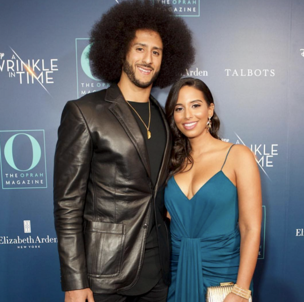 Colin KaepernicK & Girlfriend Stand On Red Carpet For Movie Premiere