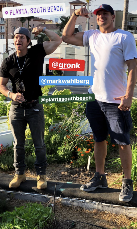 Rob Gronkowski Filming With Mark Wahlberg In South Beach