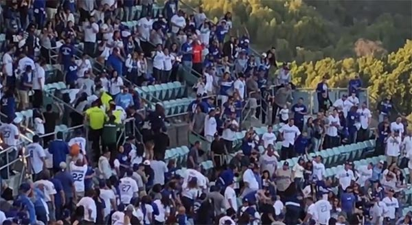 Dodgers Fans Going HAM On Opening Day (VIDEO)