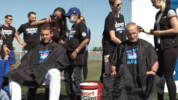 Cubs Participate in Fourth Annual Respect Bald Event