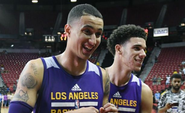 Lonzo Ball and Kyle Kuzma have dunk-off at Lakers Practice