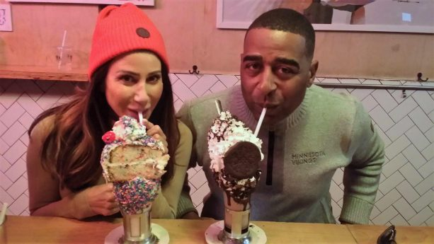 Cris Carter & Maybe NEW WIFE?  Have A Milkshake