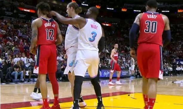 Dwyane Wade picks up technical foul for poking Guy in the Ear