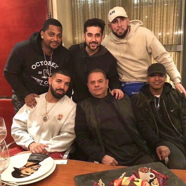 Drake Brings A Plate With His Face On It To Dinner With Blue Jay Players