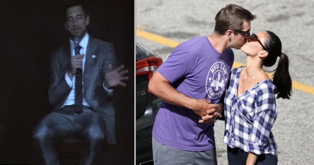 Aaron Rodgers Comes Out Of The Closet At Speaking Engagement Last Night?