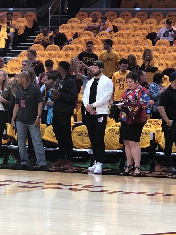 Baker Mayfield At The Cavs Game 4 Is Such A Johnny Manziel Move