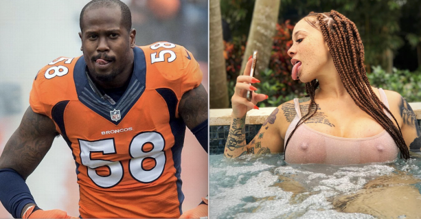 Former Nfl Mvp Von Miller Is Enjoying His Offseason He Has Been Spotted Multiple Times With Instagram Model Meganxdenise We All Know Von Likes Them Thick
