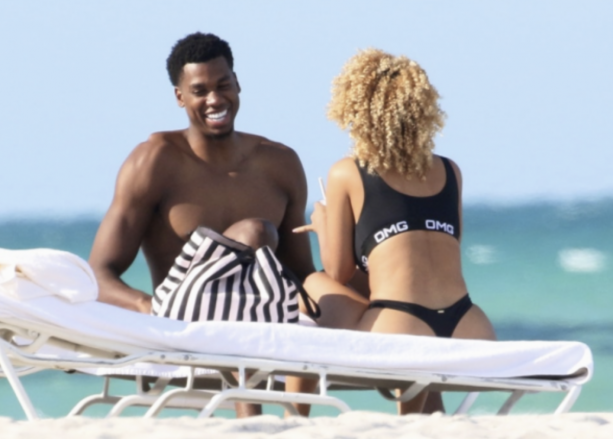 Hassan Whiteside Spotted With Girlfriend On Miami Beach