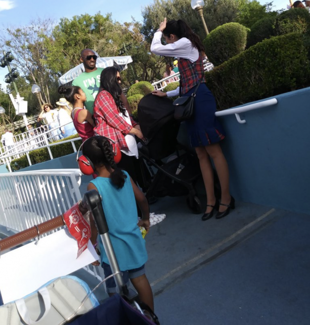 Kobe Bryant And Family Spotted At The Happiest Place On Earth
