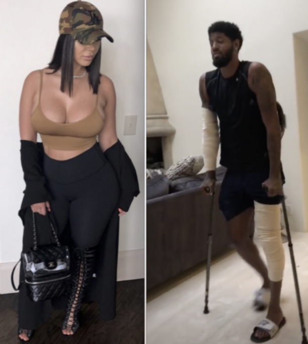 Paul Geoorge's Hot Baby Momma Helping Him Recover After Knee Surgery