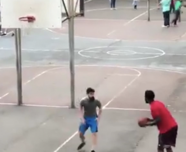 Joel Embiid Just Playing Street Ball In Philly