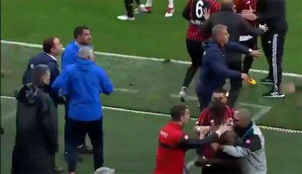 WATCH: Soccer Player Walks Out Of Game Then Gets In Fight With Teammates