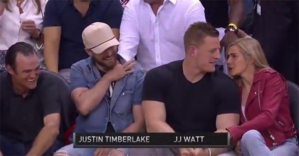 J.J. Watt And Justin Timberlake Loving Rockets' Game 5 Win Over Warriors