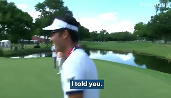 Pro Golfer Kevin Na Wins Debate With Caddie By Holing An Amazing Shot (VIDEO)