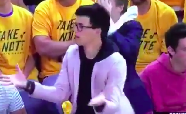 Jazz Fan Does A Great James Harden Impression