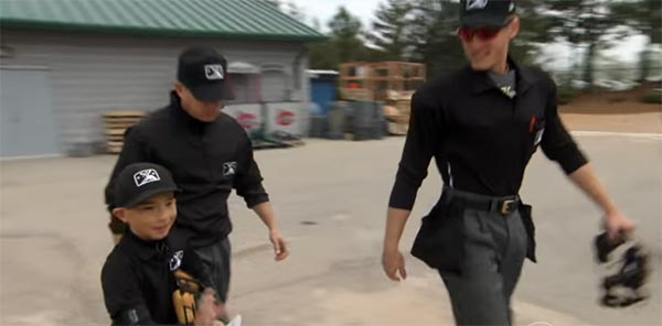 Kid Dressed As Umpire & Called Minor League Game From The Stands (VIDEO)