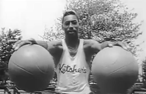 Rare Footage Of Wilt Chamberlain Dominating In High School (VIDEO)