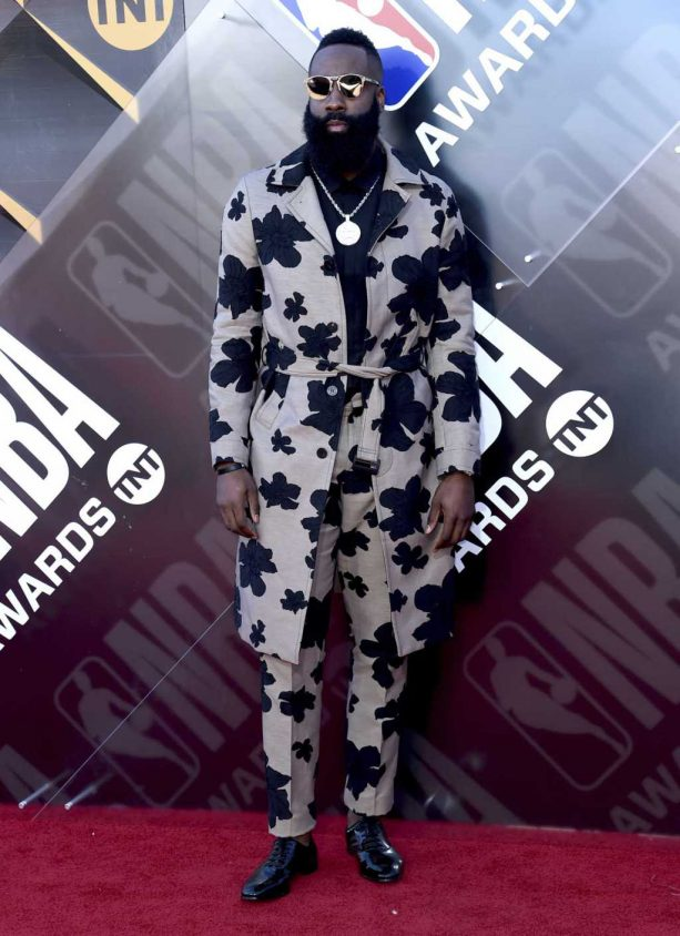 James Harden's Outfit To The NBA Awards Was On Another Level