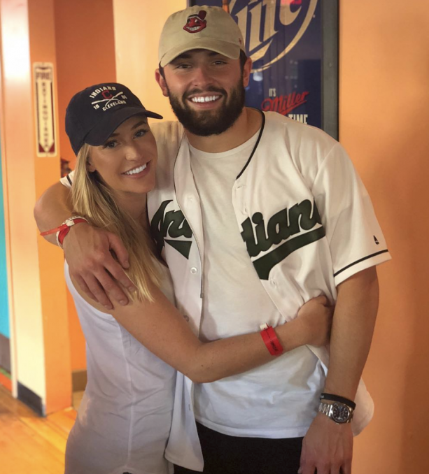 71eed99b1af Browns first overal pick Baker Mayfield might need a replacement sonner  than later. How about his girlfriend Emily Wilkinson.