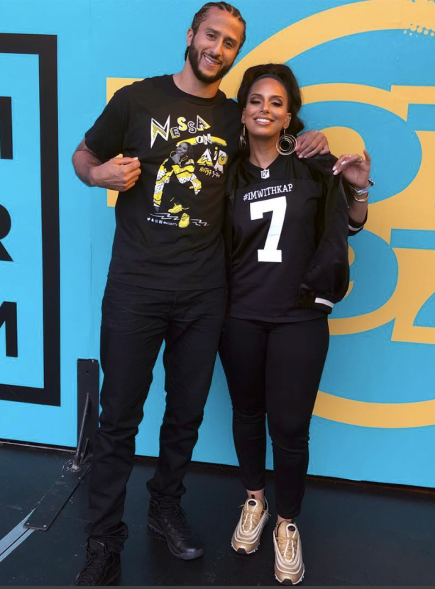 new product 4be3f 3da63 Colin Kaepernick's Girlfriend Shows Support For Colin ...