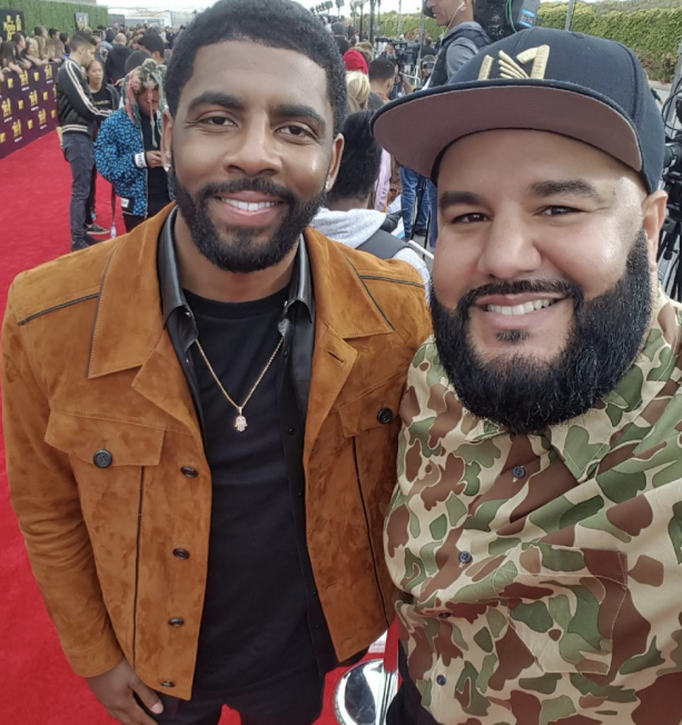 Kyrie Irving On The Red Carpet At MTV Movie Awards