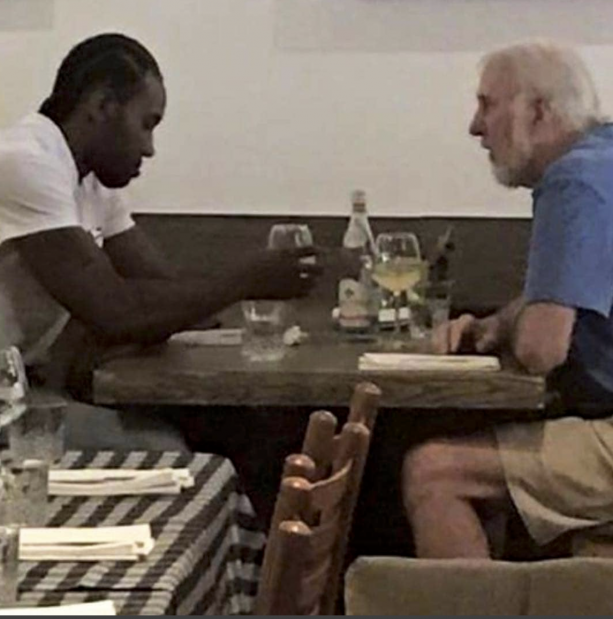 Picture Of Gregg Popovich & Kawhi Leonard Meeting In San Diego
