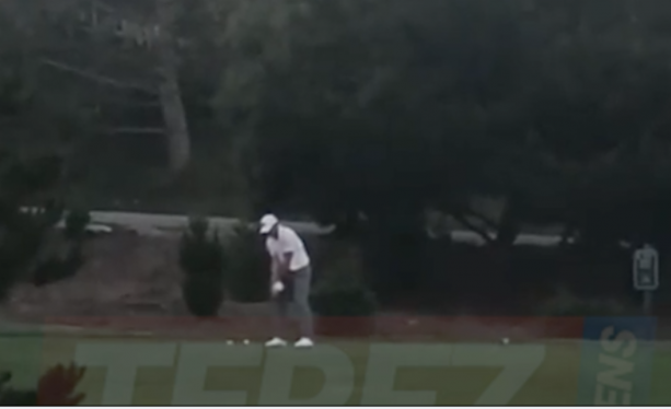 Aaron Rodgers Playing Golf Solo On A Saturday Morning