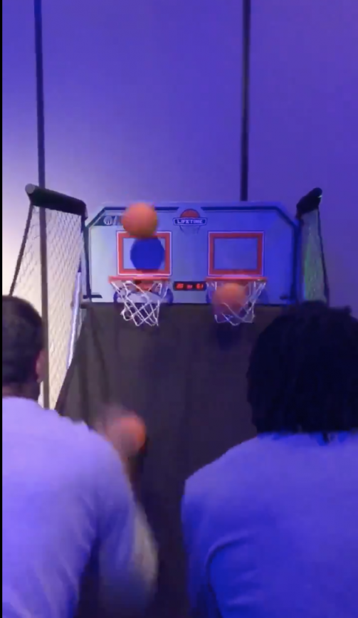Aaron Rodgers Dominates NBA Star At Pop A Shot