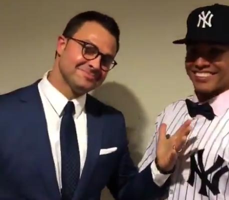 """Nick Swisher Looked Giddy Announcing Yankees Draft Pick Named """"Breaux"""""""