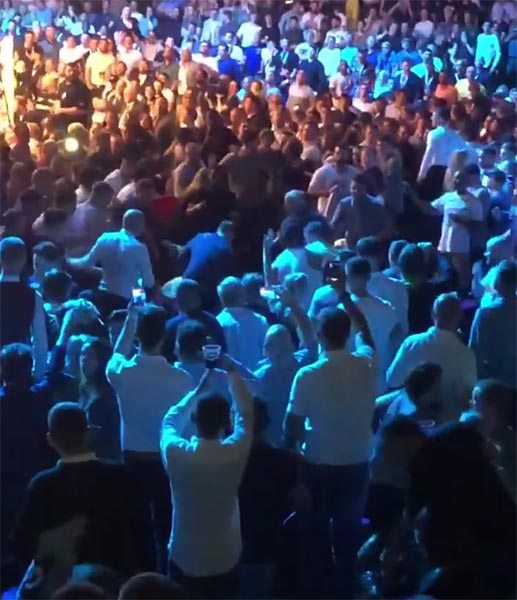 Huge Brawl In The Crowd Distracts Tyson Fury-Sefer Seferi Boxing Match (VIDEO)