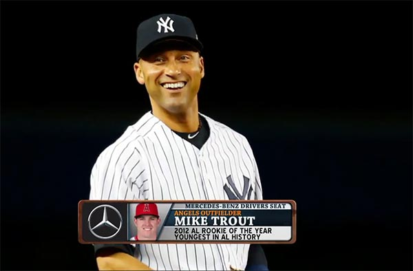 Mike Trout Asked Derek Jeter For An Autograph While On Second Base