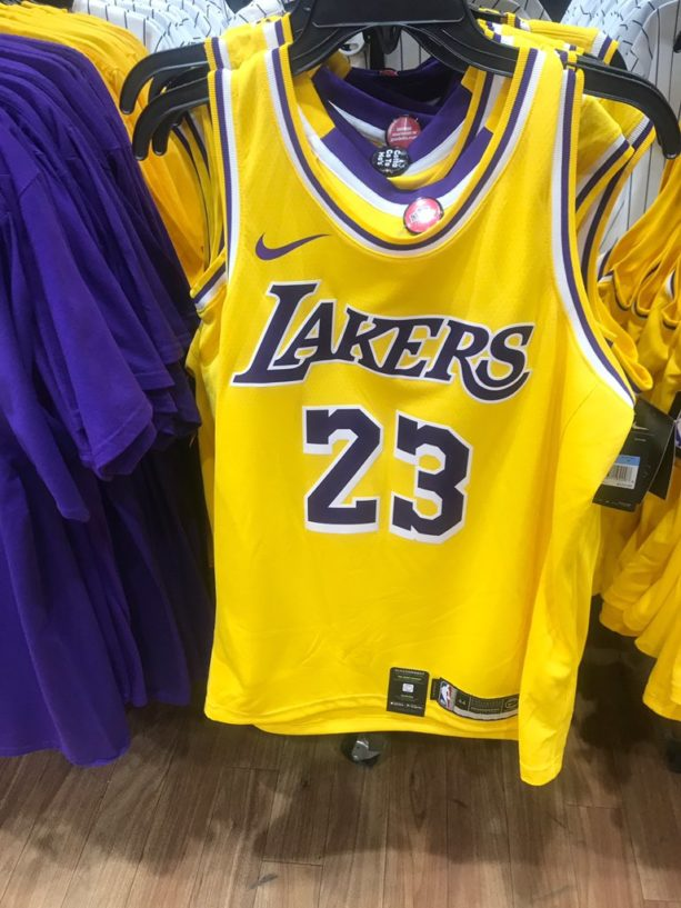 new concept 8c755 c5dee Retail Store Accidentally Leaks LeBron James Laker Jerseys ...