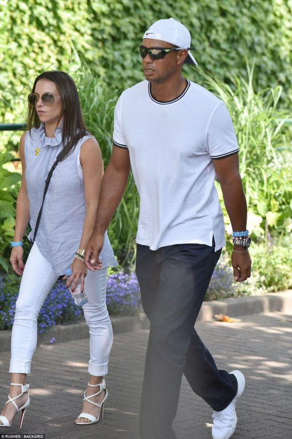 tiger woods with girlfriend erica herman at wimbledon  u22c6 terez owens    1 sports gossip blog in