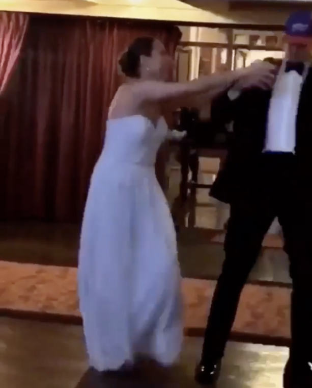 Rob Gronkowski Spikes A Bills Hat At Wedding