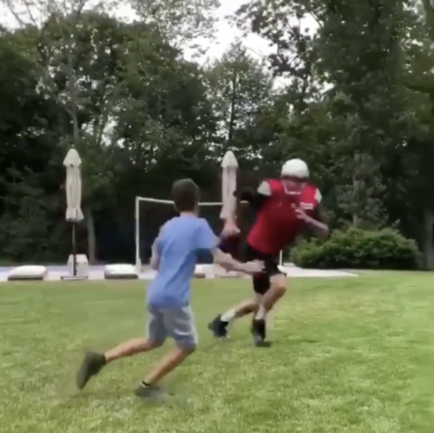 Tom Brady Doesn't Take It Easy On His Son