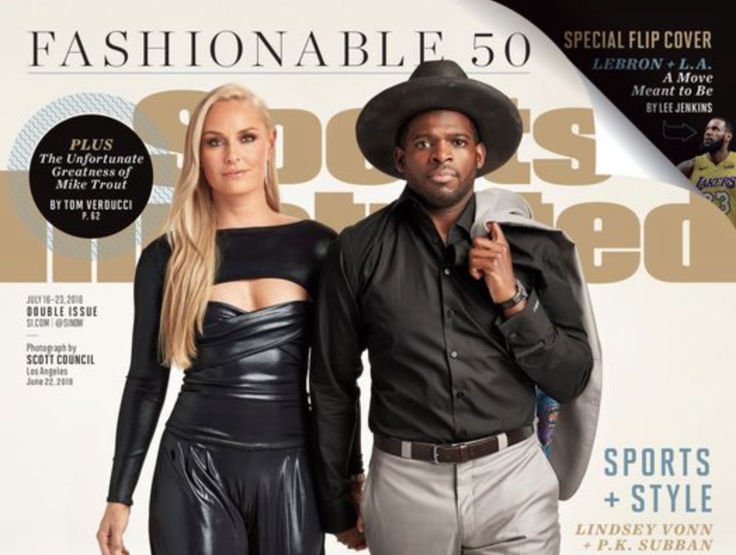 Sports Illustrated Says PK Subban And Lindsey Vonn The Perfect Match