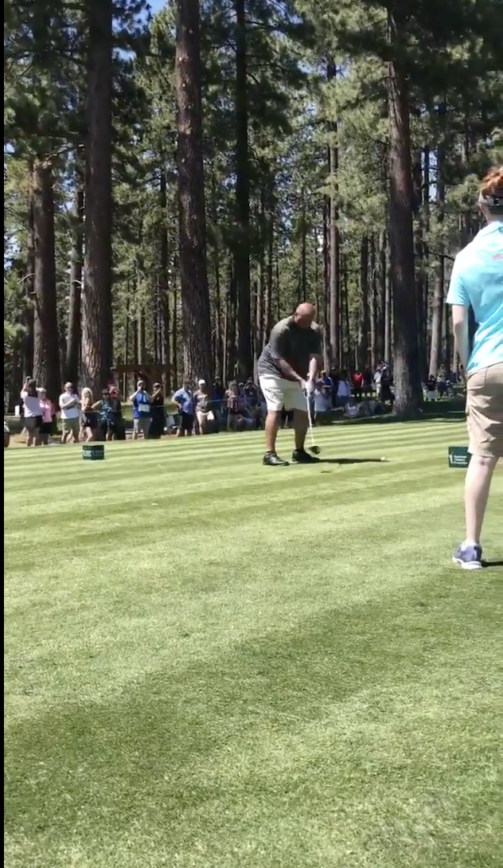 Charles Barkley's Golf Swing Starting To Look Better?