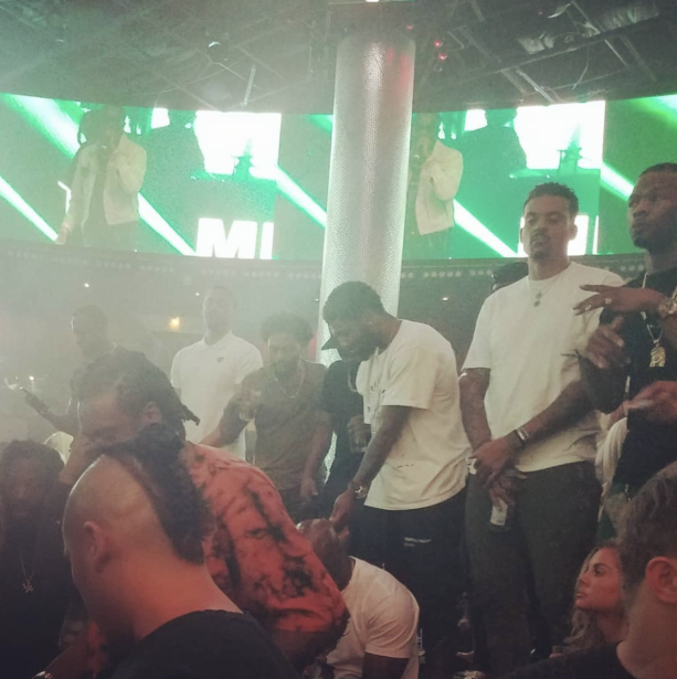 Kyrie Irving Partying With Matt Barnes At Drai's Night Club In Vegas