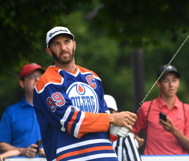 Watch: Dustin Johnson In A Wayne Gretzky Jersey Practicing For The RBC Canadian Open