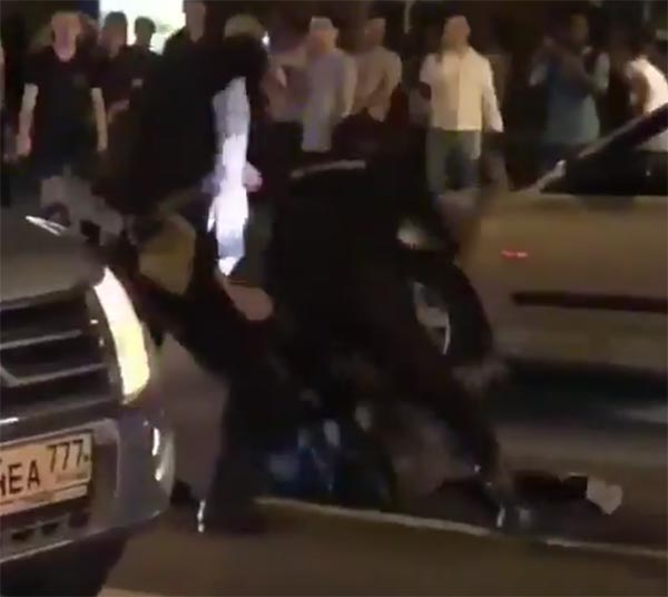 VIDEO: Russian Fan Gets A Beatdown By Police After Win Over Spain