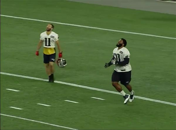 Patriots Players Went Nuts When Their 1st Round Pick Isaiah Wynn Fielded A Punt (VIDEO)