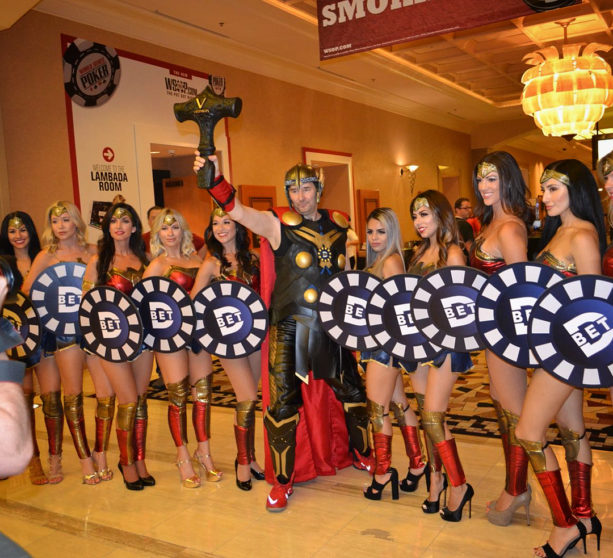 Phil Hellmuth Entered The WSOP Main Event As Thor & With Hot Wonder Women